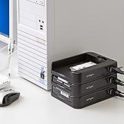 HDDケース(USB3.0・SATA接続・2.5&3.5インチ両対応・SATA3対応・スタック構造)