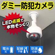 ダミー防犯カメラ(防滴仕様、LEDライト、電池駆動)