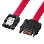 SATA3延長ケーブル 0.3m(ラッチ付き、ストレートコネクタ)