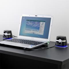 2.1chコンパクトスピーカー(3.5mmステレオミニプラグ・ミニサブウーハー搭載・USB電源タイプ)