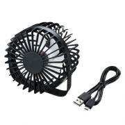 USB扇風機(卓上扇風機・2段階風力調整・ブラック)