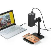 デジタル顕微鏡(USB接続・倍率280倍・オートフォーカス・パソコン制御・遠距離撮影・レンズ角度調整可能)