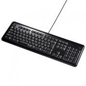 【アウトレット】USBハブ付キーボード(ブラック)