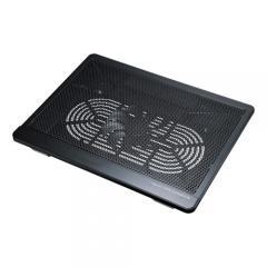 ノートパソコン用クーラー(ファン左右移動可・冷却・熱対策・12インチワイド~15.6インチワイド対応)