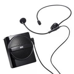 小型拡声器(ハンズフリー/コンパクト/軽量・イベント・店頭販売・誘導案内・ポータブル・大容量バッテリー・10W)