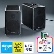Bluetoothスピーカー(高音質コーデック・AAC/apt-X・木製・レザー調本体・2chスピーカー・日本語取扱説明書)