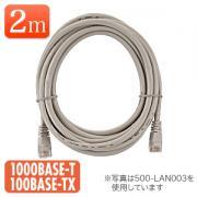 LANケーブル 2m (ライトグレー・1000BASE-T対応)