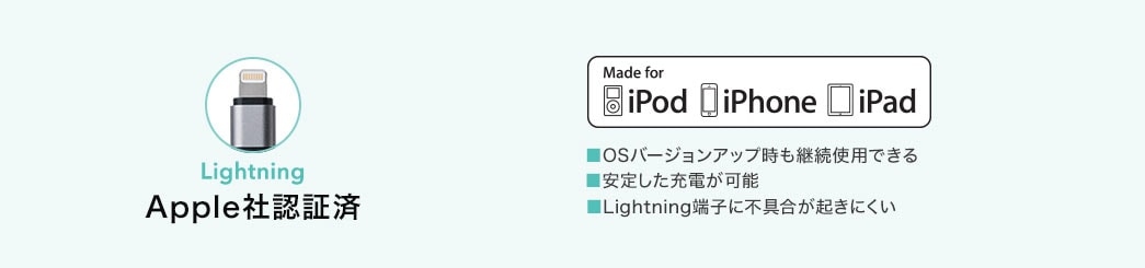 Lightning Apple社認証済